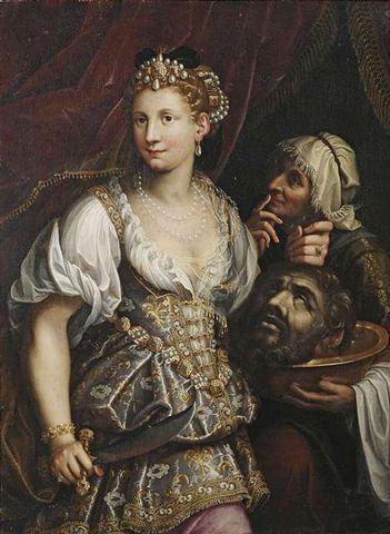 Judith mit dem Haupt des Holofernes by Workshop of Fede Galizia Women artists in renaissance.