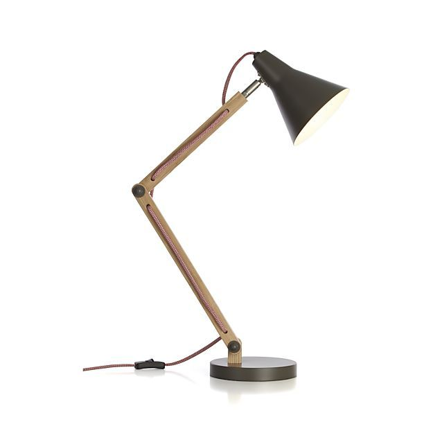 Rex Grey Desk Lamp in Table & Desk Lamps | Crate and Barrel