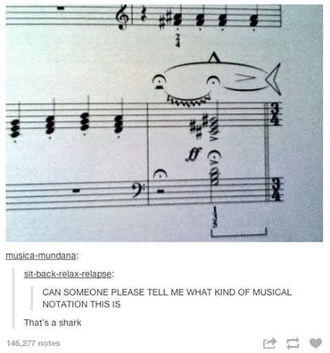 This notation that really is just a shark:
