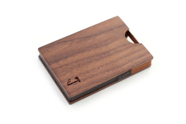 Walnut Card Wallet | Wood Wallet by Slim Timber