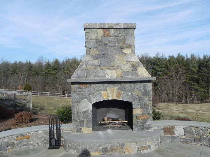 This Lake George Building #stone Is A Great Choice For An Outdoor  #fireplace.