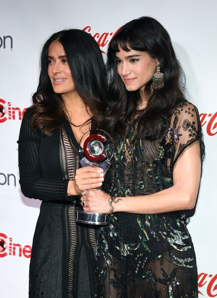 Salma Hayek Photos Photos - Actress/producer Salma Hayek (L), recipient of the CinemaCon Vanguard Award, and actress/dancer Sofia Boutella, recipient of the Female Star of Tomorrow Award, attend the CinemaCon Big Screen Achievement Awards brought to you by the Coca-Cola Company at Omnia Nightclub at Caesars Palace during CinemaCon, the official convention of the National Association of Theatre Owners, on March 30, 2017 in Las Vegas, Nevada. - CinemaCon 2017 - The CinemaCon Big Screen…