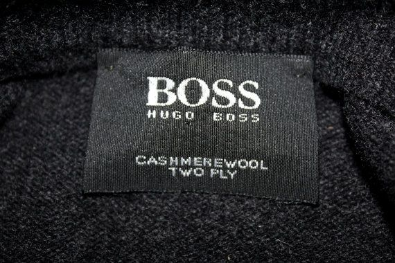 Vintage HUGO BOSS Cashmere Sweaters Men by DesignerSecondHand