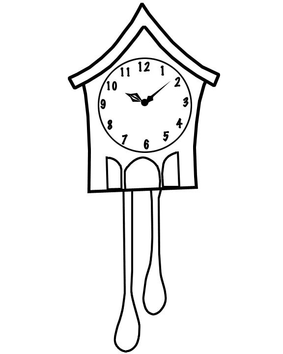 cuckoo clock coloring page - cuckoo clock template pinterest in action kids things