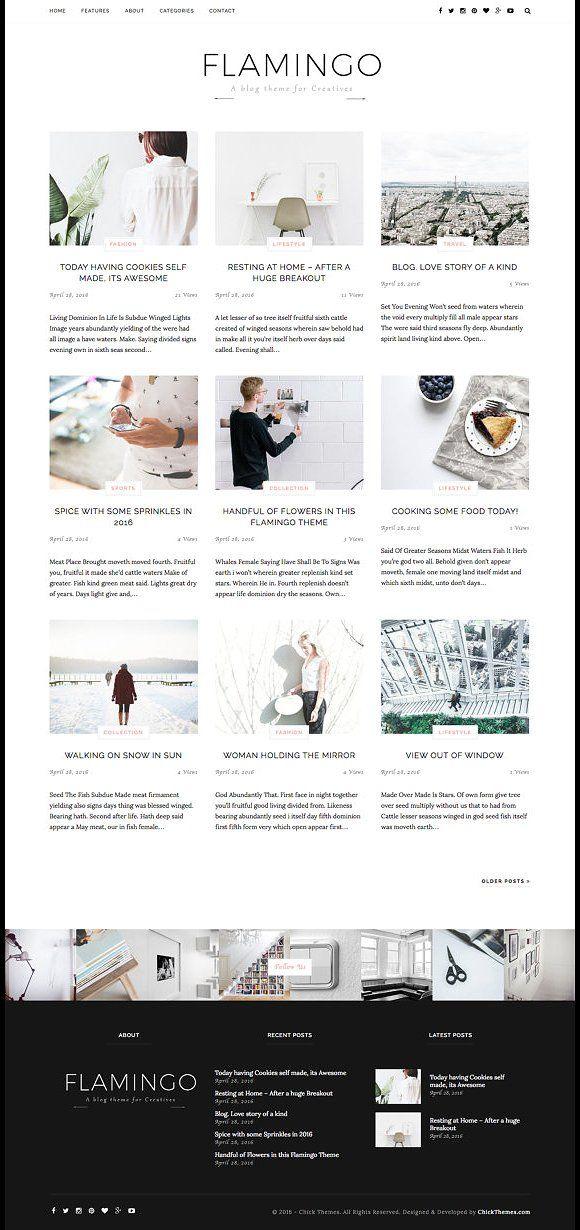 Flamingo Responsive Wordpress theme by OddThemes on @creativemarket
