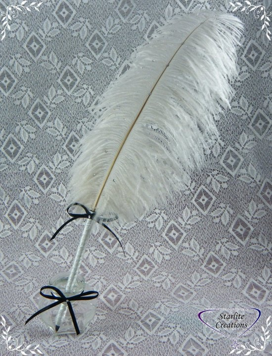 Ostrich feather quill (Pen)