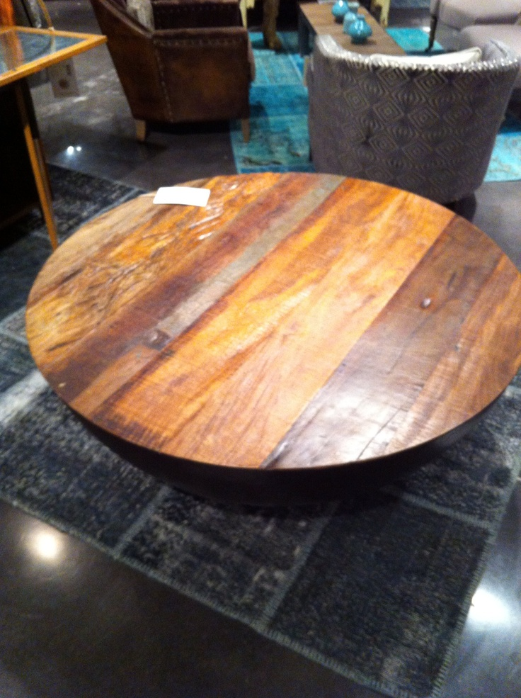 Boat wood round coffee table furniture pinterest