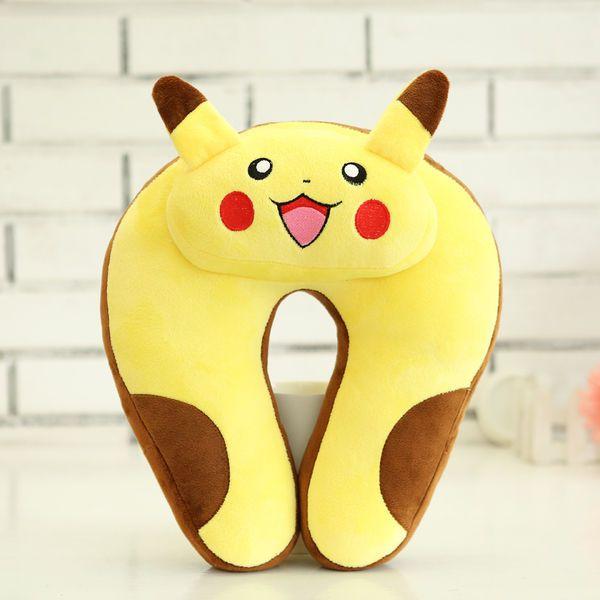 NEW LISTING Pokemon Pikachu Car u Shaped Pillow Travel Pillow