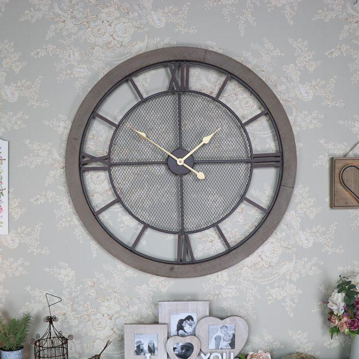 Extra Large Rustic Wall Clock   #homedecor #industrialdesign #industrial #rustic #rustichome #rusticinterior #rusticdecor #blackdecor #retro #retrodecor #homeideas #homeinteriors #interiordesign #myinterior #myhome #vintage #vintagestyle #storage #scandinaviandesign #clock #wallart