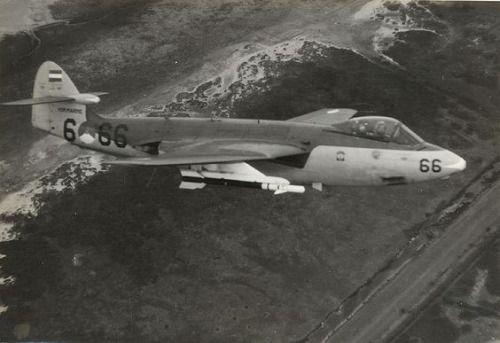 Royal Netherlands Air Force Hawker Sea Hawk in flight