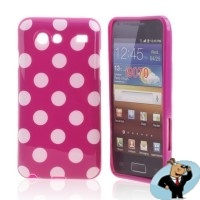 Silicon Hoesje voor Samsung Galaxy S Advance i9070 Purple Love | MobielKoopjes