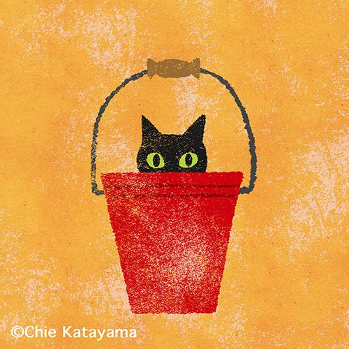 Chie Katayama illustration.Cat.#illustration #draw #art #cat イラスト #イラストレーション #猫