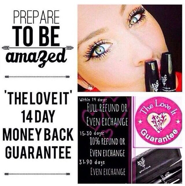 Younique 3D Mascara offers a love it guarantee with a full refund the first 14 days, get yours here: www.youniqueproducts.com/lindsaycarlson