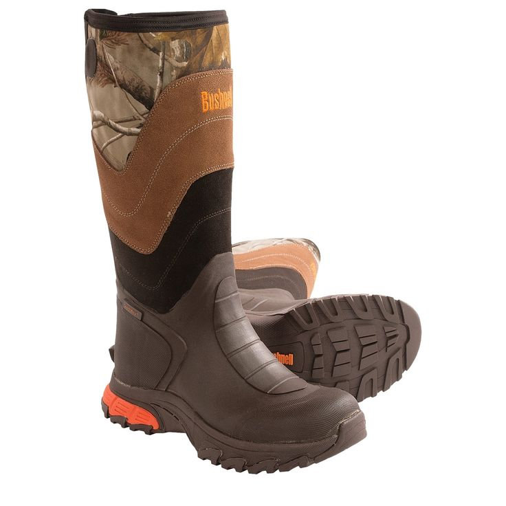 """Bushnell Bucktale Non-Insulated Rubber Boots - Waterproof, 17"""" (For Men) in Realtree Ap"""