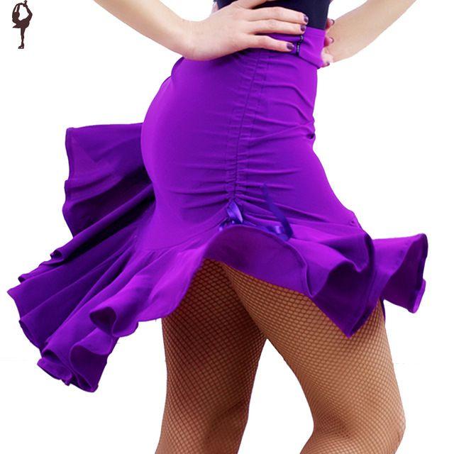 Novo latina Salsa Tango Rumba Cha Cha dança de salão saia vestido quadrado dança preto roxo Hip Hop roupas mulheres vestido de dança latina