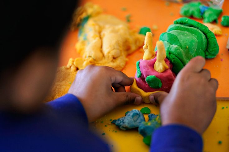Playing with play dough is great for developing fine motor skills.  The malleable properties of play dough make it fun for investigation and exploration. Playing with play dough also exercises the small muscles in the hands and fingers which we use when drawing and writing. #WPD
