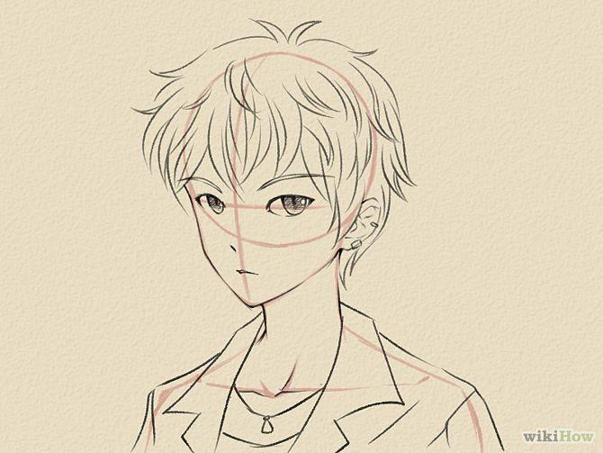 anime male face - 670×503