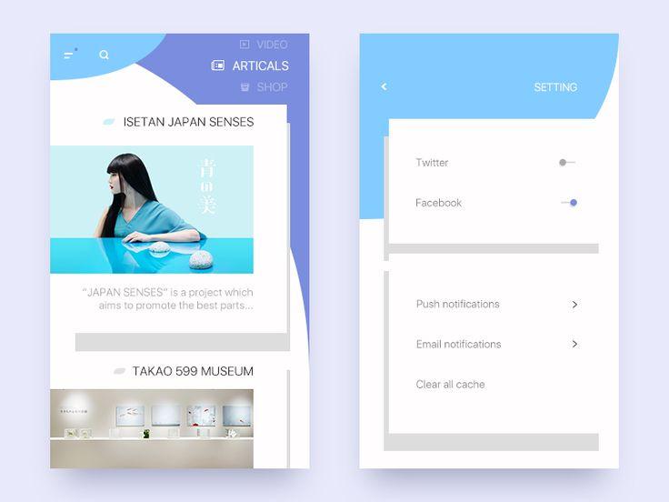Blogging Interface Concept by liric0o #Design Popular #Dribbble #shots