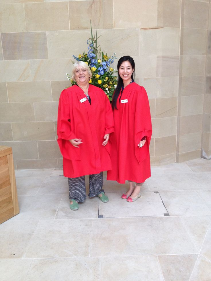 mum working at the sheffield cathedral with laura