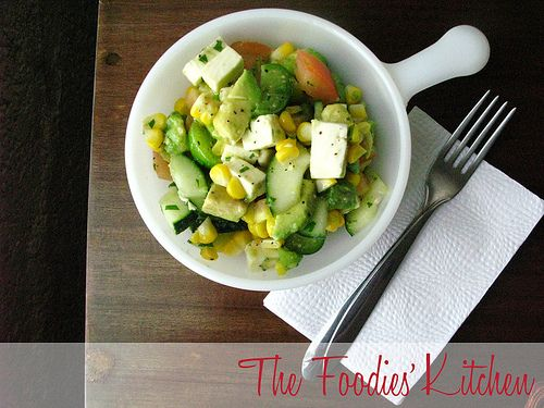Avocado and Corn Salad with Cilantro Vinaigrette