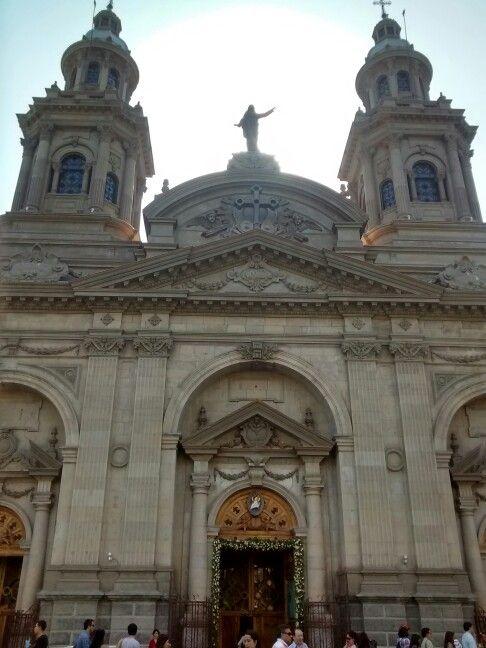 "Catedral de Santiago. Via Basilicarum.Plaza de Armas. André Kaleaux. 2015. ""Ecce tabernaculum dei cum hominibus."""