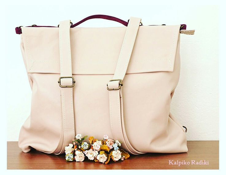 Pottier bag Lether, nude pink colour