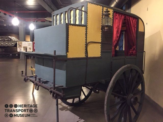 Take a look at this two wheeled Horse carriage. These types of carriages were referred to as Shigrams. :)  www.heritagetransportmuseum.org  #horsecarriage #shigram #vintagestyle #vintagecollection #heritage #transport #museum #exhibit #manesar #travel #explore