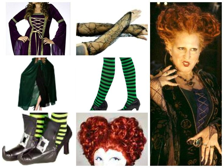 Winifred Sanders Halloween Costume Idea.. trying to make the girls  Sanderson sister costume for halloween :)