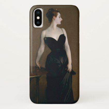Portrait of Madame X (Madame Gautreau) by Sargent iPhone X Case - portrait gifts cyo diy personalize custom