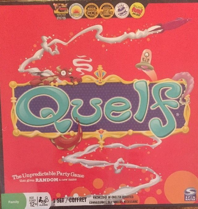 Quelf Board Game Unpredictable Party Game Family Ages 12+ New Sealed #SpinMaster