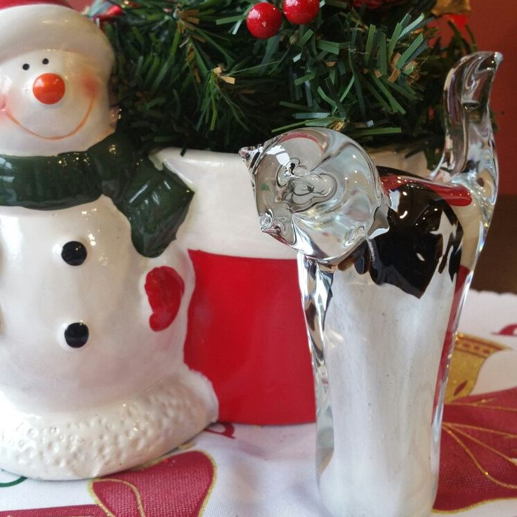With Snowman on the Christmas Table