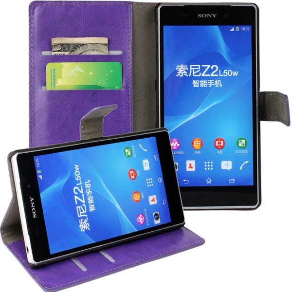 New Case - Purple Luxury Leather Wallet Stand Case for Sony Xperia Z2 Cover, $14.95 (http://www.newcase.com.au/purple-luxury-leather-wallet-stand-case-for-sony-xperia-z2-cover/)