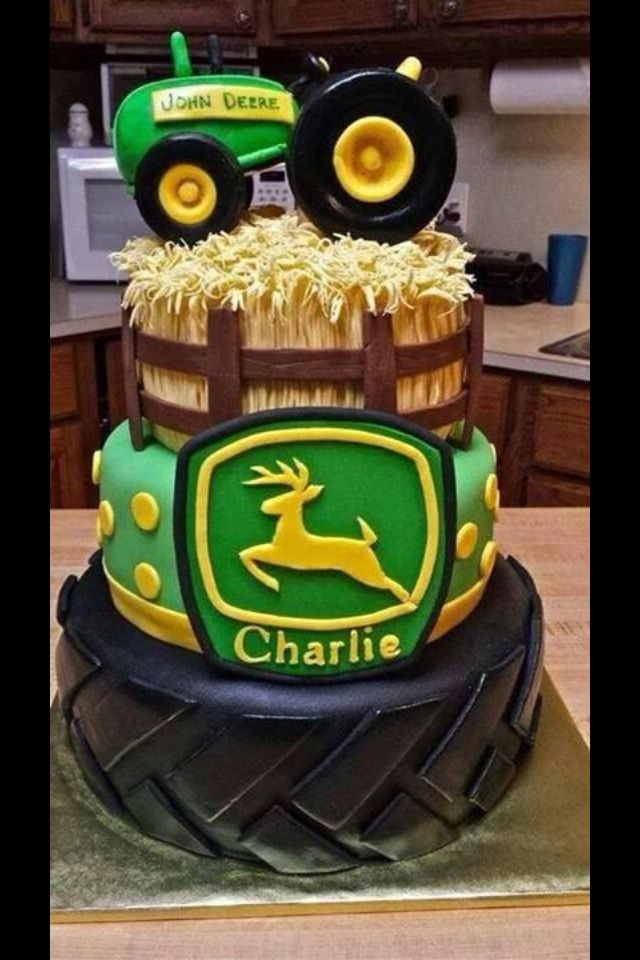 John Deere cake {*For A John Deere Baby Shower*}  ((Heard back from my cake lady today, and *this* is officially going to be my baby shower cake!! W/ ::*BRANSON*:: on it ;)... Isaac says he wants it for his birthday cake, lol!))