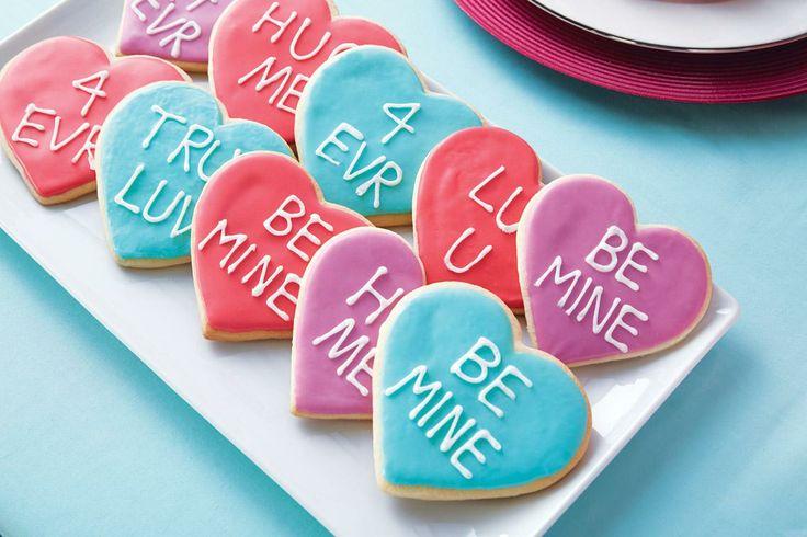Conversation Heart Cookies | | recipes | | Pinterest | Heart Cookies ...