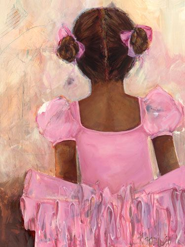 Perfect Ballerina - African American Canvas Reproduction