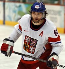 Among the most respected people in the Czech Republic belong sportmen. One of the most popular sport is Ice-Hockey and hence a hockeyplayer - Jaromír Jágr.