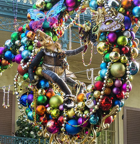 wreath in New Orleans square.