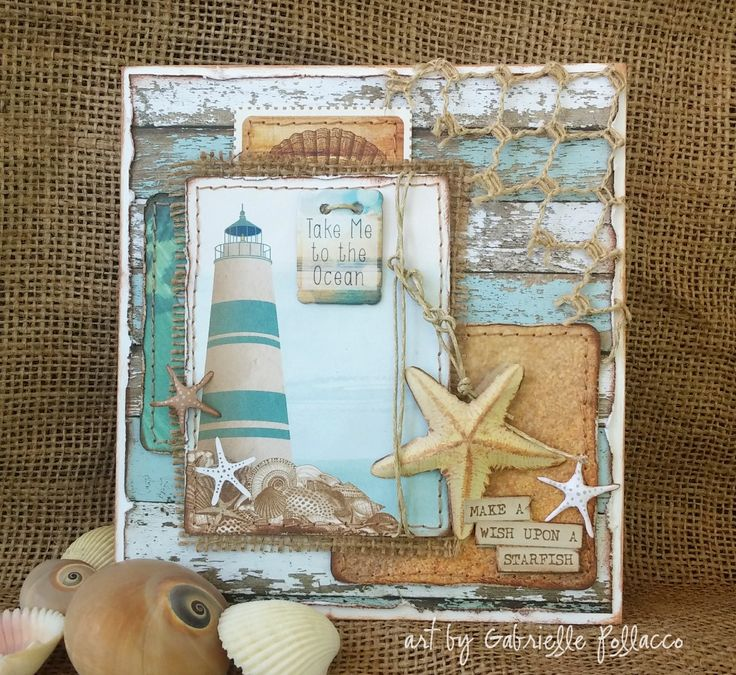 Nautical/Beach Card by Gabrielle Pollacco - Scrapbook.com