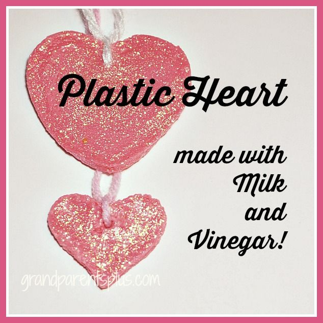 Plastic Heart made with Milk and Vinegar!