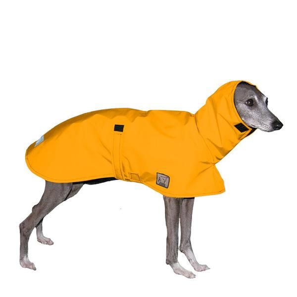 You'll appreciate how well this lightweight dog jacket protects your Italian Greyhound from drenching downpours and drizzle. This waterproof dog rain jacket blocks wind as well as rain with a long, flowing design that ensures water washes off (won't seep in the dog coat) and that's sure to please your Italian Greyhound, too!