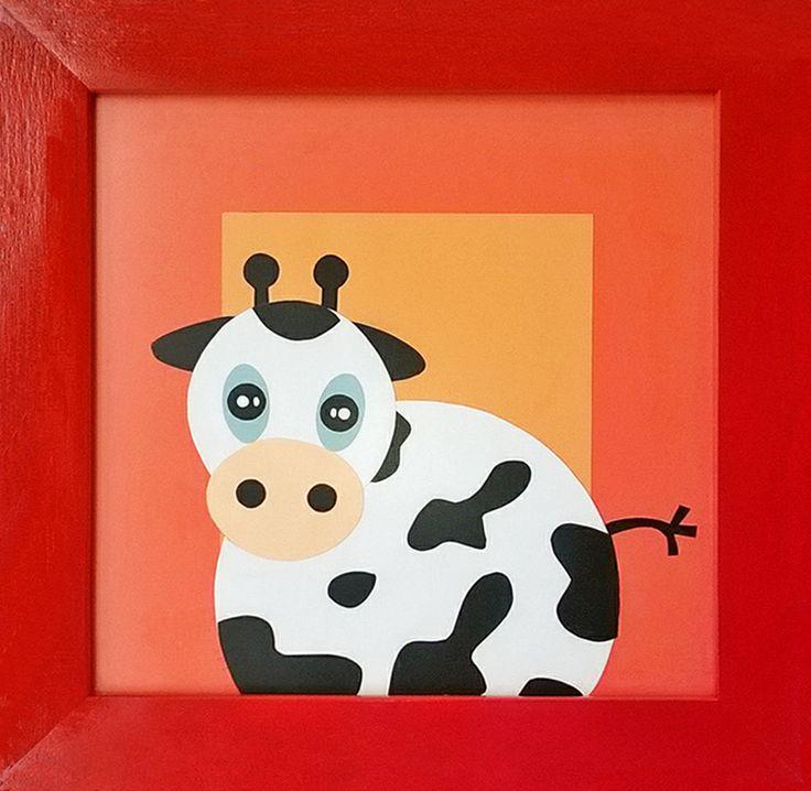 #cuadros #vaca #decora #bebes #niños #ecologico  http://www.regalosdirecto.com.mx/para-el-bebe/igriega-kids/cuadro-vaca.html