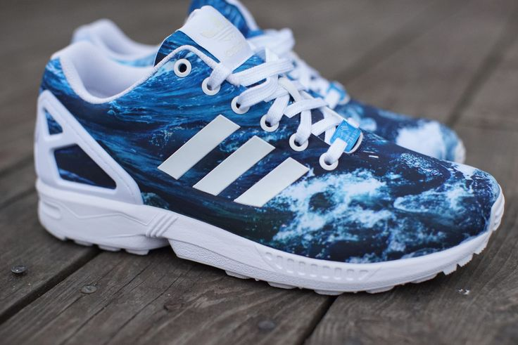 "Adding to the flavors of the adidas ZX Flux that we looked at yesterday, adidas also recently released the adidas ZX Flux ""Blue Sea"". Part of their graphic"