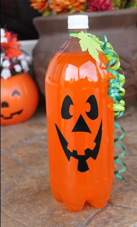 Or a bottle of orange soda. | 24 Surprisingly Easy Halloween Party DIYs