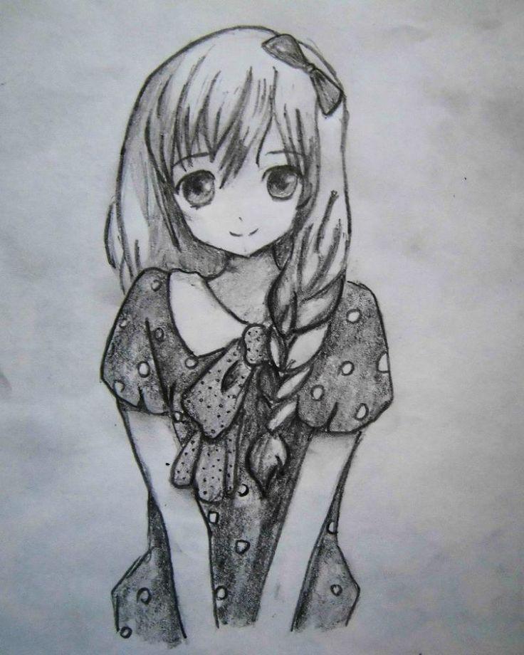 Картинки нарисованные карандашом простым красивые легкие аниме