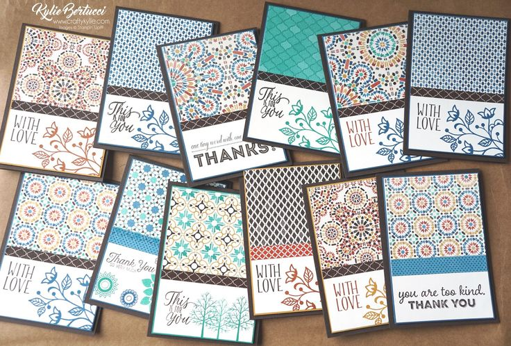 Kylie Bertucci - Moroccan designer series paper. Click on the picture to see more of Kylie's Designs and ideas. #Stampinup #cardmaking #handmadecard #rubberstamps #stamping #kyliebertucci