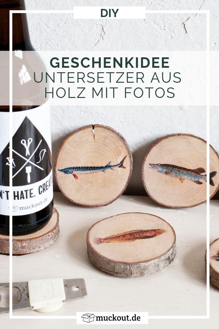 Diy Geschenkidee Fur Angler Untersetzer Mit Fisch Motiven Diy Geschenke Mann Diy Geschenkideen Geschenke