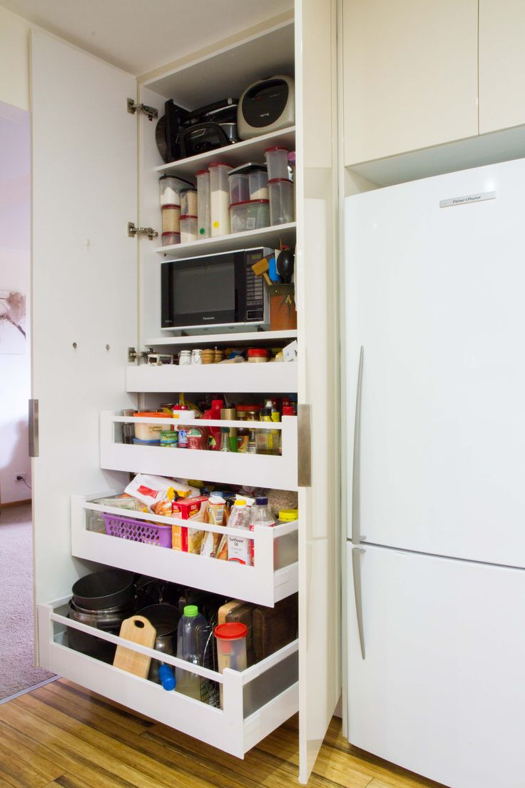 Pantry with drawers Microwave in pantry Blum drawers can
