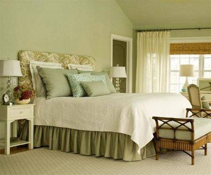 фисташковый цвет спальни