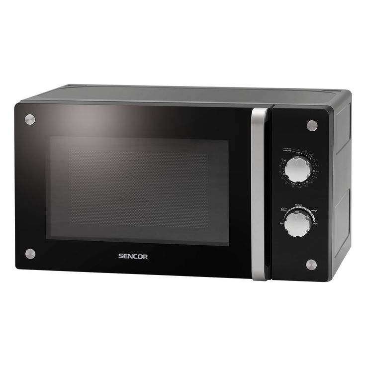 Microwave Oven SMW 2620M - Door and front panel from hardened glass - Automatic defrosting based on weight - 5 microwave power levels