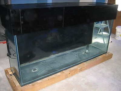 150 gallon with black mahogany stand and canopy saltwater fish tank